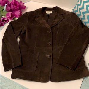 Bagatelle genuine leather suede heavy jacket brown